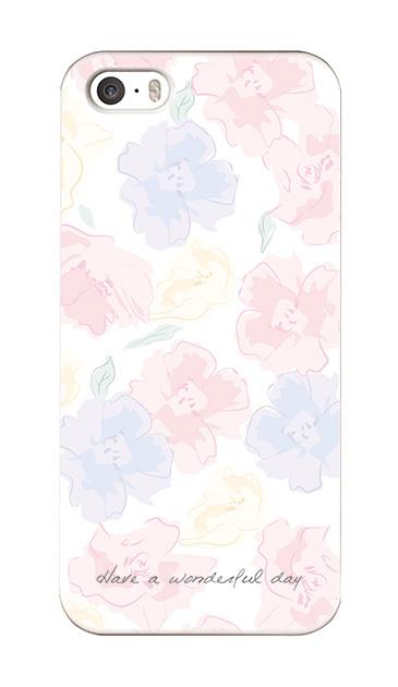 iPhoneSEのケース、ふんわりスイートピー・フラワー【スマホケース】
