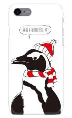 iPhone7対応のハードケース・ツヤ有り、寒がりペンギン【スマホケース】