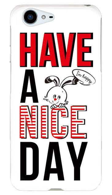 AQUOS ZETAのハードケース、「HAVE A NICE DAY」【スマホケース】