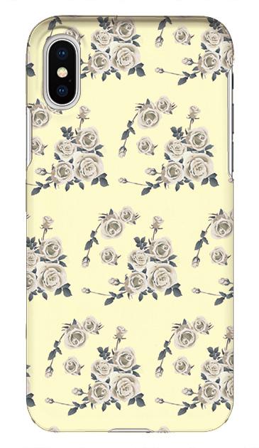 iPhoneXのケース、可憐ローズフラワー【スマホケース】