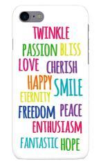 iPhone7対応のツヤ有りケース、Happy Feeling!