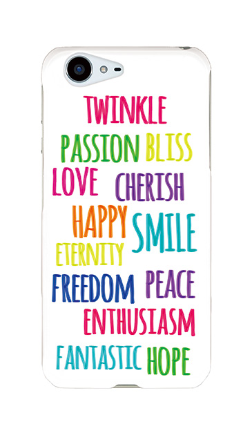 AQUOS ZETAのケース、「Happy Feeling!」【スマホケース】