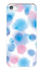 iPhone5c対応のハードケース・ツヤ有り、水彩ドット・レイン