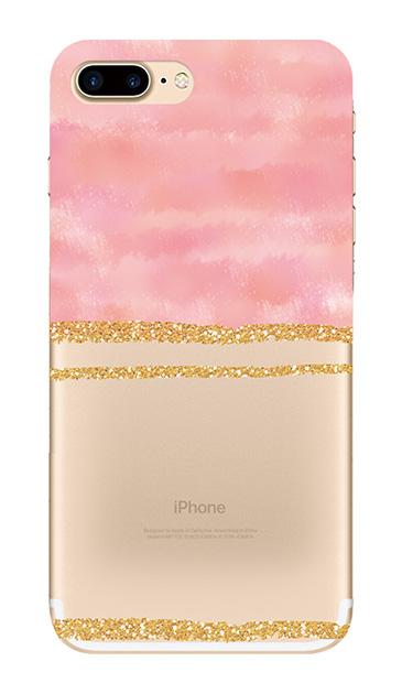 iPhone7 Plusのクリア(透明)ケース、ツイン大理石