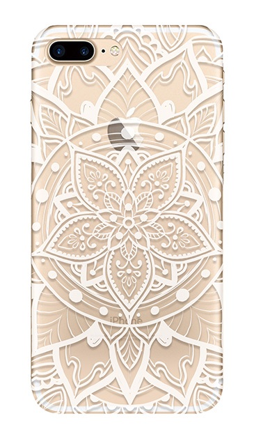 iPhone7 Plusのクリア(透明)ケース、パステルアラベスク