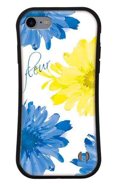 iPhone7のグリップケース、4ビッグフラワー