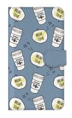 iPhone7対応の手帳型ケース、ブレイクタイムコーヒー