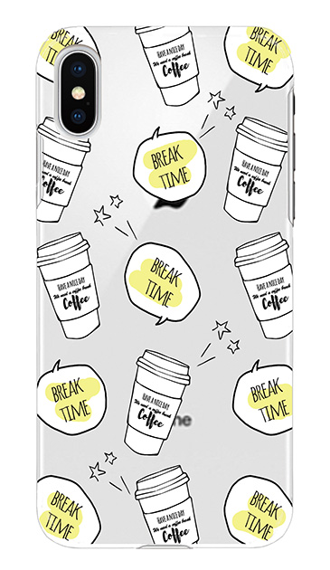 iPhoneXのケース、ブレイクタイムコーヒー【スマホケース】