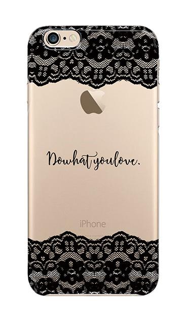 iPhone6sのクリア(透明)ケース、シックレースメッセージ