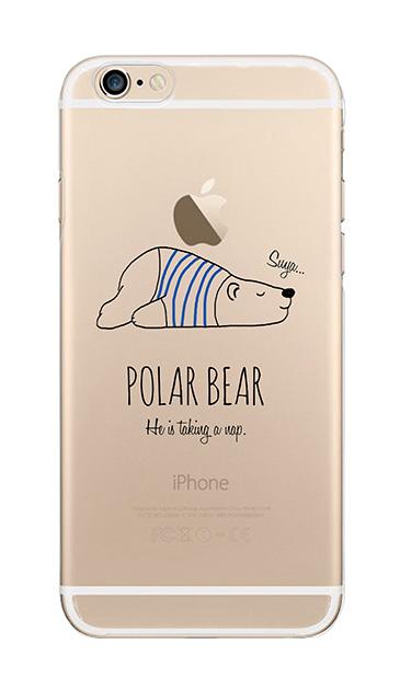 iPhone6sのクリア(透明)ケース、おやすみポーラベア【スマホケース】
