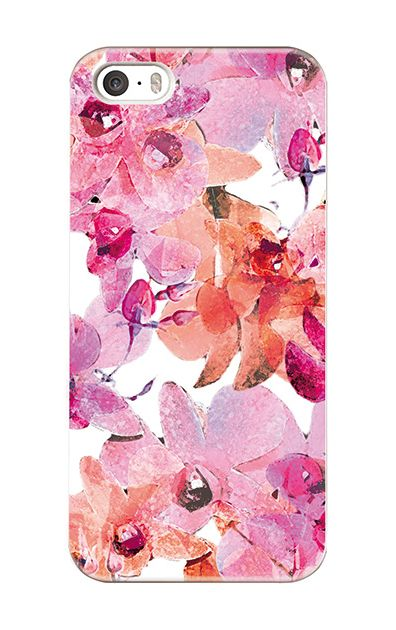 iPhoneSEのケース、アートフラワー・オーキッド