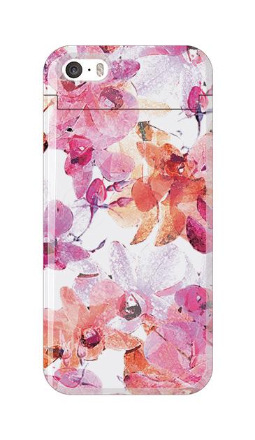iPhoneSEのケース、アートフラワー・オーキッド【スマホケース】