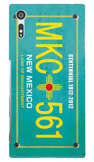 Xperia XZのケース、カーナンバー・ニューメキシコ