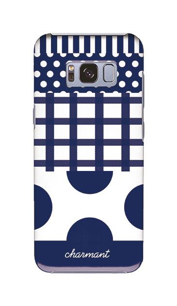 Galaxy S8のケース、ツインドットストライプチェック【スマホケース】