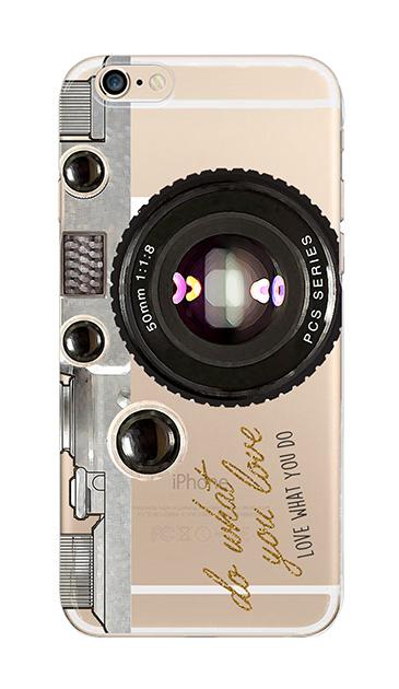 iPhone6sのクリア(透明)ケース、アナログカメラ【スマホケース】