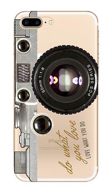 iPhone7 Plusのクリア(透明)ケース、アナログカメラ【スマホケース】