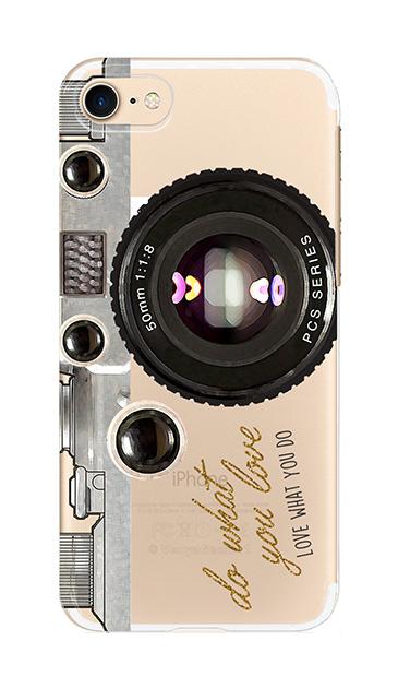 iPhone8のクリア(透明)ケース、アナログカメラ【スマホケース】