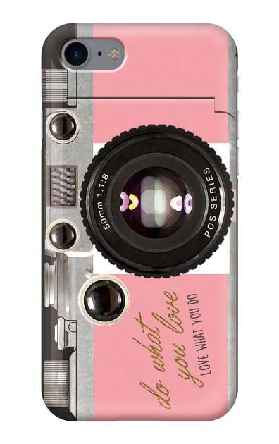 iPhone8のミラー付きケース、アナログカメラ【スマホケース】