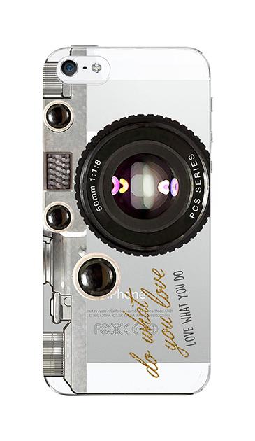 iPhoneSEのクリア(透明)ケース、アナログカメラ【スマホケース】