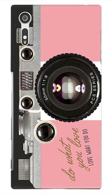 Xperia XZのハードケース、アナログカメラ【スマホケース】