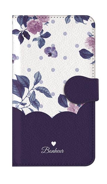 iPhone8のケース、ツインドットフラワー・エレガント【スマホケース】
