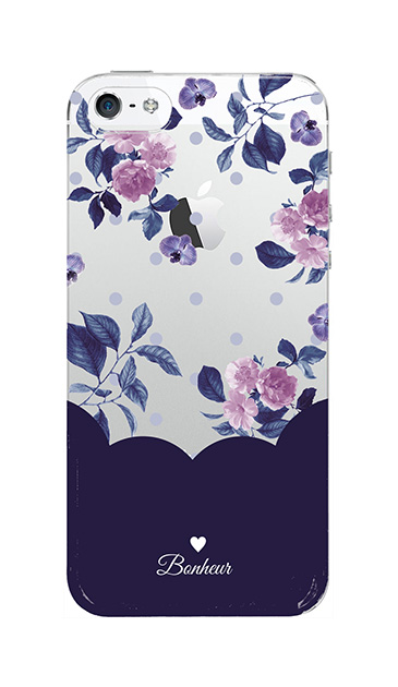 iPhone5Sのクリア(透明)ケース、ツインドットフラワー・エレガント【スマホケース】