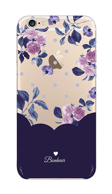 iPhone6sのクリア(透明)ケース、ツインドットフラワー・エレガント【スマホケース】