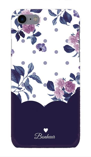 iPhone7のケース、ツインドットフラワー・エレガント【スマホケース】