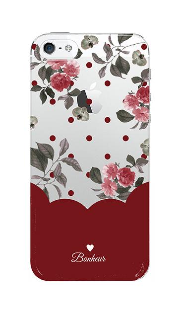 iPhoneSEのケース、ツインドットフラワー・エレガント【スマホケース】