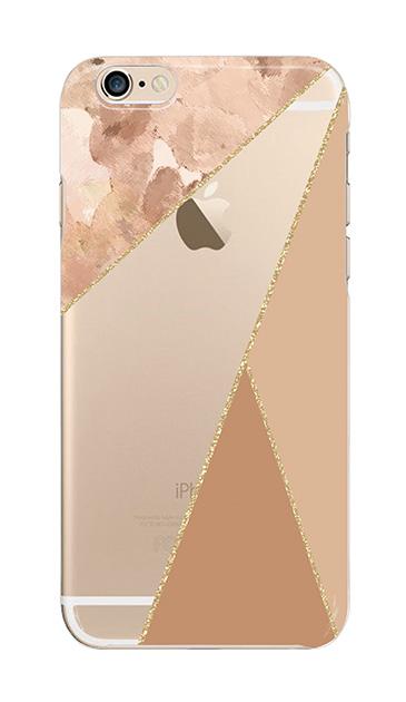 iPhone6sのクリア(透明)ケース、マーブルトライアングルパレット【スマホケース】