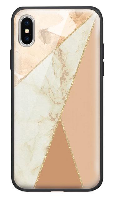 iPhoneXのケース、マーブルトライアングルパレット【スマホケース】