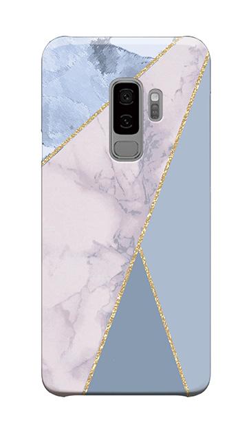 Galaxy S9+のケース、マーブルトライアングルパレット【スマホケース】