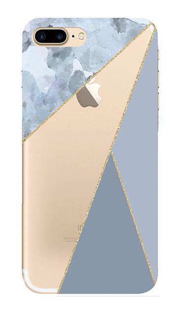 iPhone7 Plusのクリア(透明)ケース、マーブルトライアングルパレット【スマホケース】
