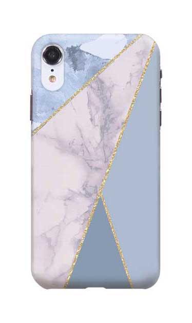 iPhoneXRのケース、マーブルトライアングルパレット【スマホケース】
