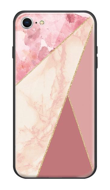iPhone8のケース、マーブルトライアングルパレット【スマホケース】