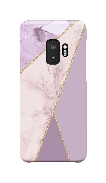 Galaxy S9のケース、マーブルトライアングルパレット【スマホケース】