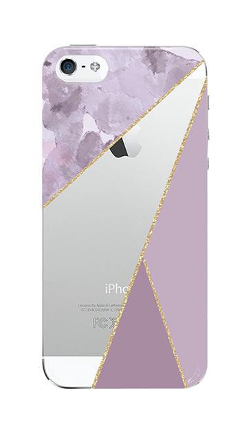 iPhone5Sのクリア(透明)ケース、マーブルトライアングルパレット【スマホケース】