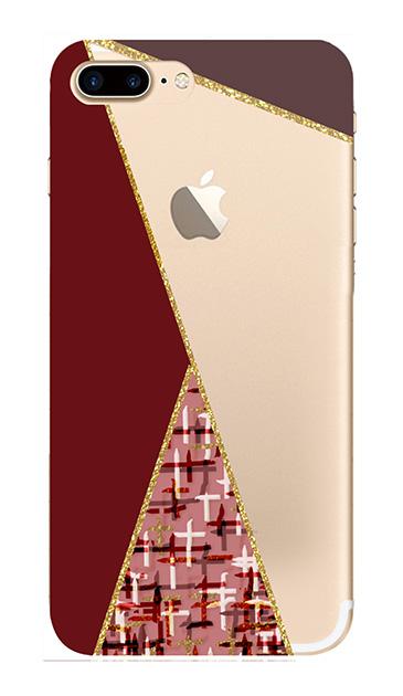 iPhone8 Plusのケース、ツイードトライアングルパレット【スマホケース】