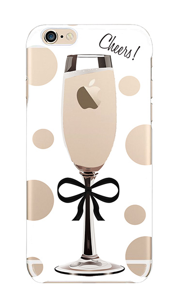 iPhone6sのクリア(透明)ケース、シャンパンドット【スマホケース】