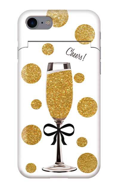iPhone7のケース、シャンパンドット【スマホケース】