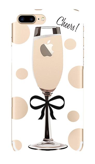 iPhone7 Plusのクリア(透明)ケース、シャンパンドット【スマホケース】