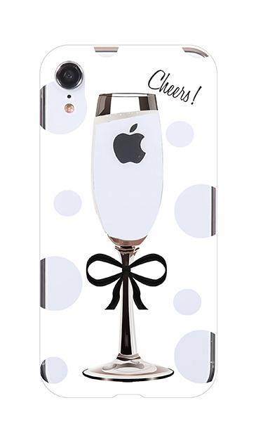 iPhoneXRのケース、シャンパンドット【スマホケース】