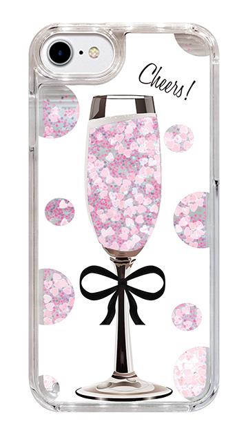 iPhone6のグリッターケース、シャンパンドット【スマホケース】
