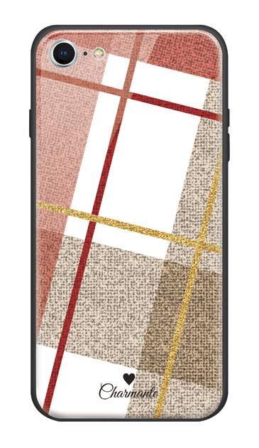 iPhone8のケース、ビッグツイードチェック【スマホケース】