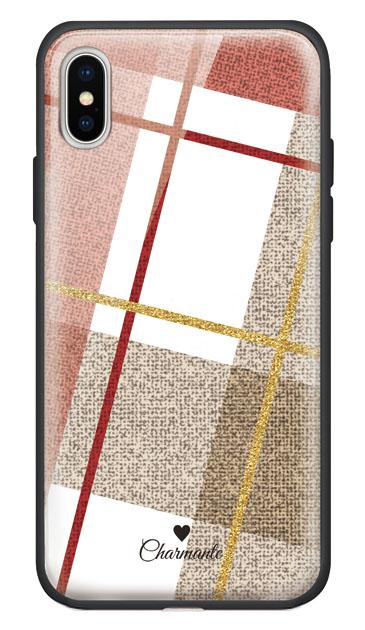 iPhoneXSのケース、ビッグツイードチェック【スマホケース】