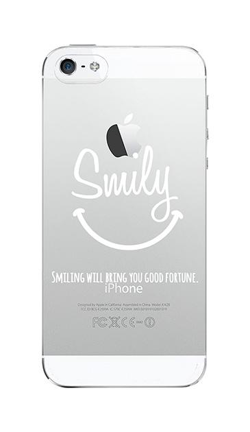 iPhone5Sのクリア(透明)ケース、英字スマイリングメッセージ【スマホケース】
