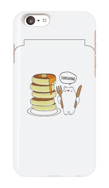 iPhone6sのミラー付きケース、しろくまパンケーキ【スマホケース】