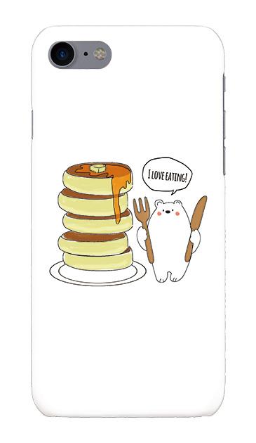 iPhone8のハードケース、しろくまパンケーキ【スマホケース】