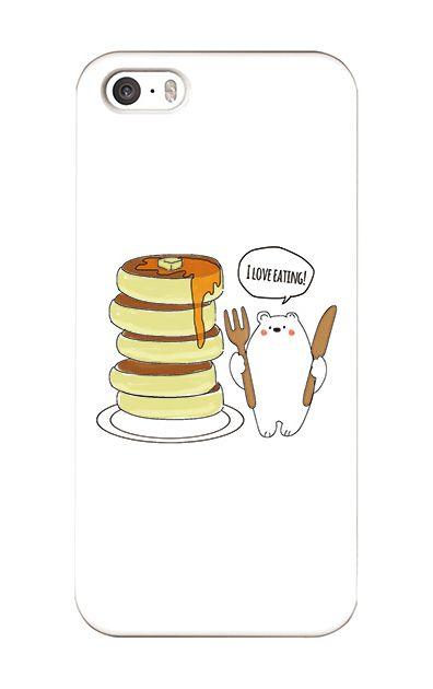 iPhoneSEのケース、しろくまパンケーキ【スマホケース】