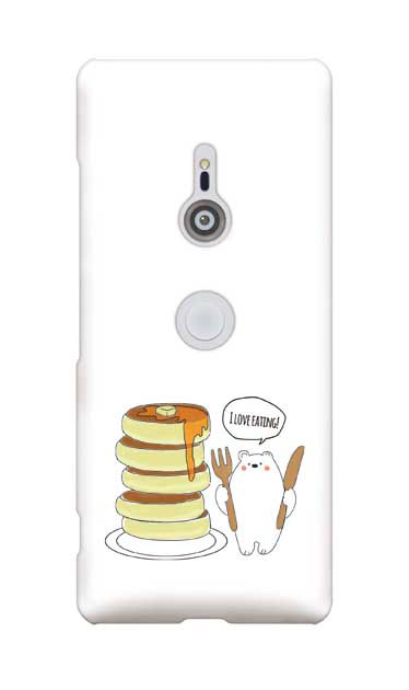 Xperia XZ3のハードケース、しろくまパンケーキ【スマホケース】